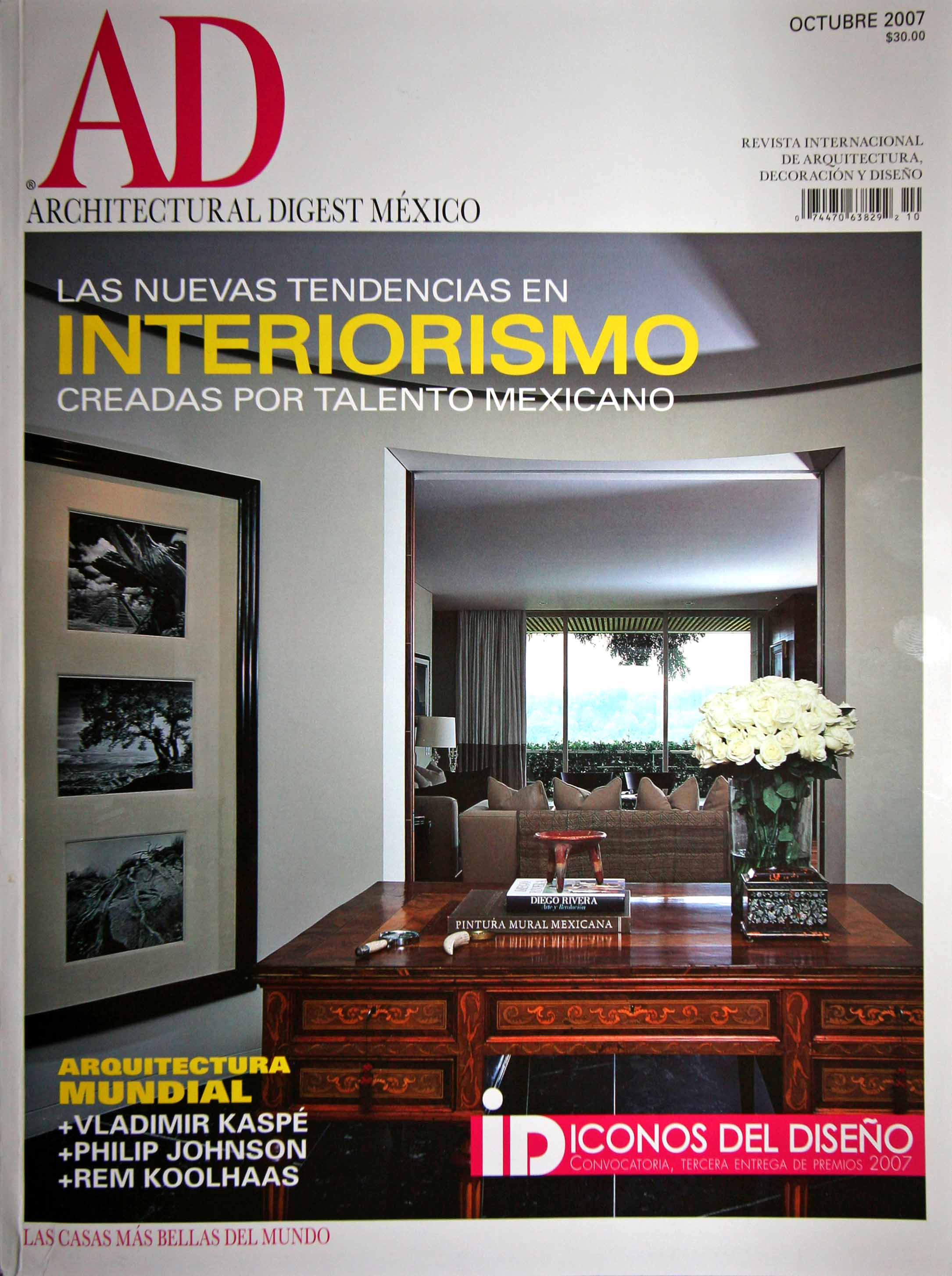 Architectural digest mexico for Designs magazine